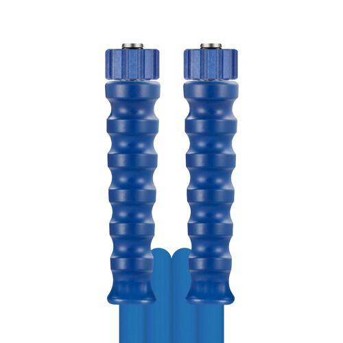 R+M de Wit 30m HD-Schlauch 2SN, DN08, blau, M22 Überwurf auf M22 Überwurf, max. 150°C, m