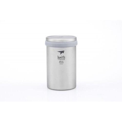 Keith Titanium Teebecher mit Teefilter Grau