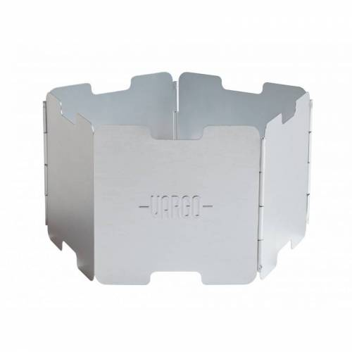 Vargo Windschutz Aluminium Silber