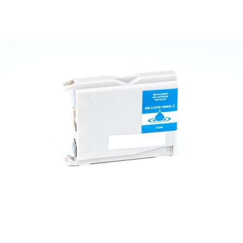 ASC, keinBrotherOriginal Druckerpatrone / Tinte für Brother LC970C cyan kompatibel (Marke: ASC)