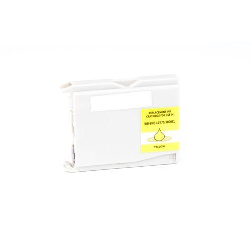 ASC, keinBrotherOriginal Druckerpatrone / Tinte für Brother LC970Y gelb kompatibel (Marke: ASC)