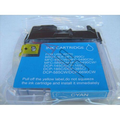 ASC, keinBrotherOriginal Druckerpatrone / Tinte für Brother LC1100C cyan kompatibel (Marke: ASC)