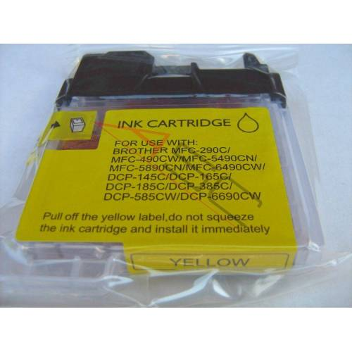 ASC, keinBrotherOriginal Druckerpatrone / Tinte für Brother LC1100Y gelb kompatibel (Marke: ASC)