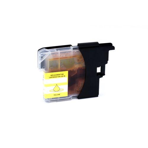 ASC, keinBrotherOriginal Druckerpatrone / Tinte für Brother LC985Y gelb kompatibel (Marke: ASC)