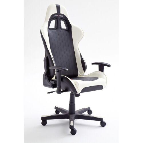MCA Furniture DXRacer 6 Bürostuhl Cheffsessel Gaming schwarz weiss