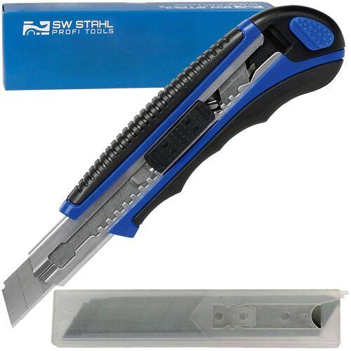 Sw-stahl Cutter-messer Abbrechmesser Tepichmesser + 6x Ersatz-klingen 18 Mm Sw-stahl: 90670sb
