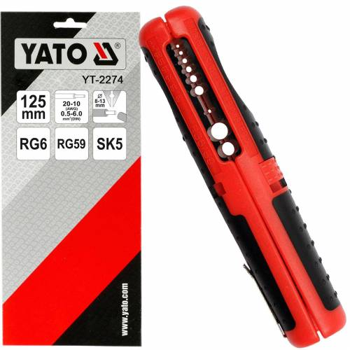 Yato Kompakte Abisolierzange 125 Mm Für Kabel-ø 0.5-6 Mm Rg6 Rg59 Abisolieren Yato: Yt-2274