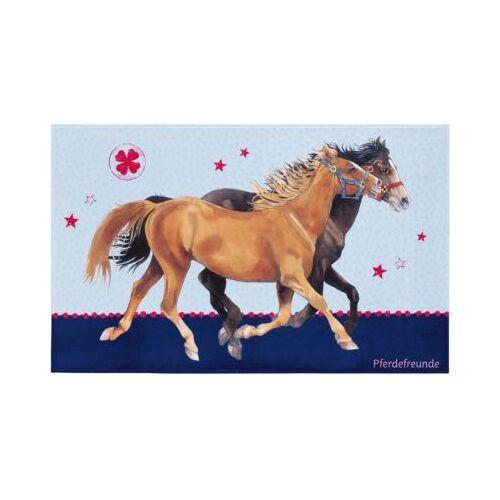 Pferdefreunde Kinderteppich Pferdefreunde, blau, 100 x 160 cm