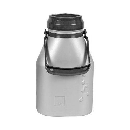 Milchkanne 2l auslaufsicher silber
