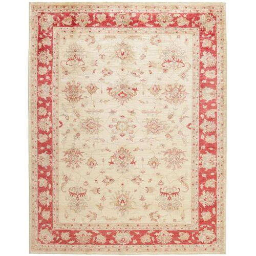 Nain Trading Handgeknüpfter Teppich Ziegler Farahan 257x208 Beige/Rot (Wolle, Pakistan)