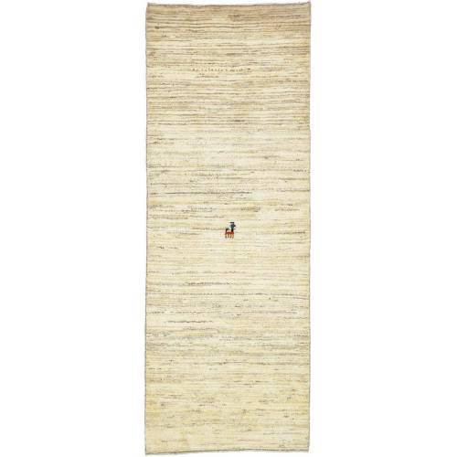 Nain Trading Handgeknüpfter Teppich Perser Gabbeh Kashkuli 205x77 Beige (Wolle, Persien/Iran)
