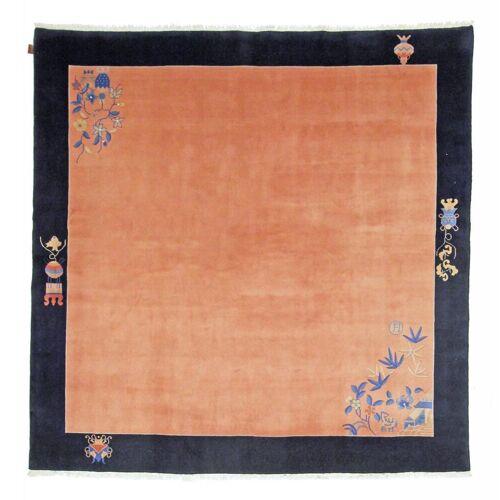 Nain Trading China 243x243 Quadratisch Beige/Orange (Wolle, China, Handgeknüpft)