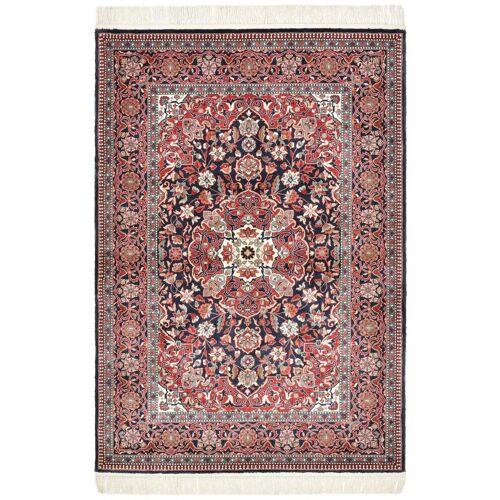 Nain Trading Orientalischer China Keshan Seide Teppich 165x112 Dunkelgrau/Rot (China, Seide, Handgeknüpft)