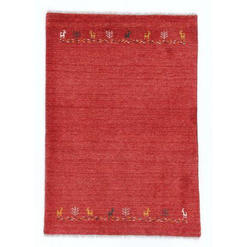 Nain Trading Handgeknüpfter Teppich Perser Gabbeh Kashkuli 156x106 Orange (Wolle, Persien/Iran)