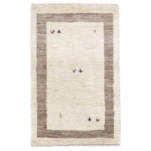 Nain Trading Handgeknüpfter Teppich Perser Gabbeh Kashkuli 157x95 Grau/Beige (Wolle, Persien/Iran)