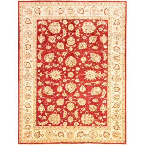 Nain Trading Handgeknüpfter Teppich Ziegler Farahan 283x213 Gelb/Rosa (Wolle, Pakistan)