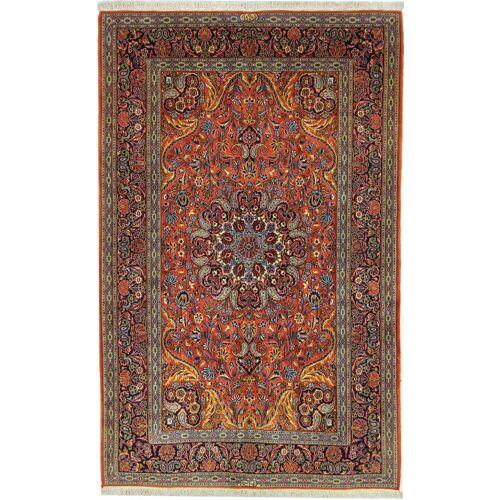 Nain Trading Handgeknüpfter Teppich Keshan Shadsar 223x141 Braun/Rost (Wolle mit Seide, Persien/Iran)