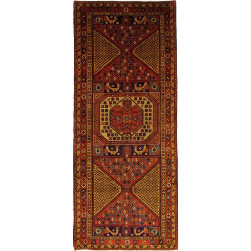 Nain Trading Handgeknüpfter Teppich Ardebil 328x139 Läufer Braun/Rost (Wolle, Persien/Iran)