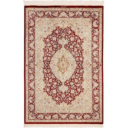 Nain Trading Perserteppich Ghom Seide 144x99 Rot/Rost (Handgeknüpft, Persien/Iran, Seide)