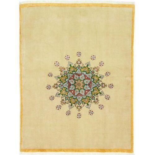 Nain Trading Handgeknüpfter Teppich Gabbeh Kashkuli 194x148 Beige/Rosa (Wolle, Persien/Iran)