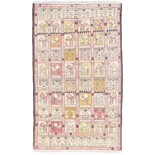 Nain Trading Handgeknüpfter Teppich Ardebil 189x117 Rot/Rosa (Wolle, Persien/Iran)