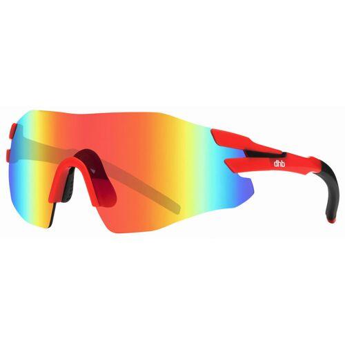 dhb Upsilon Sonnenbrille (rahmenlos) - One Size Rot/Schwarz