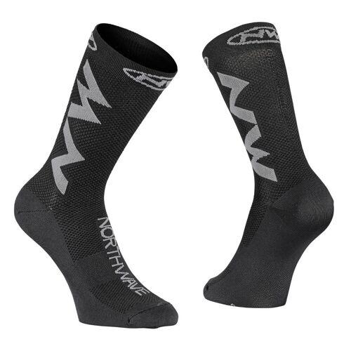 Northwave Access Extreme Air Radsocken - L Schwarz/Grau   Socken
