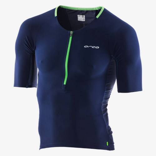 Orca 226 Perform Triathlontrikot - S Navy Blue/Green   Triathlontops