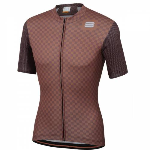 Sportful Checkmate Radtrikot - 3XL Brown/White   Trikots