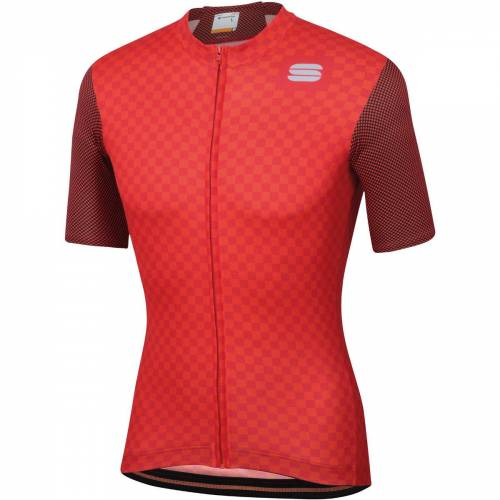 Sportful Checkmate Radtrikot - 2XL Red/Red   Trikots