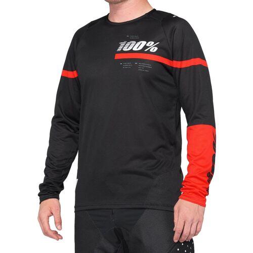 100% R Core MTB Trikot - L Schwarz/Rot   Trikots