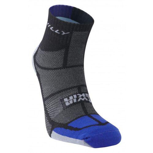 Hilly - TwinSkin kurze Socke - S Black/Blue/Grey   Socken