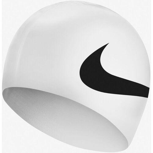 Nike Big Swoosh Badekappe - One Size Weiß   Badekappen