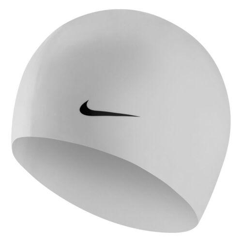 Nike Silikon Badekappe - One Size Weiß   Badekappen