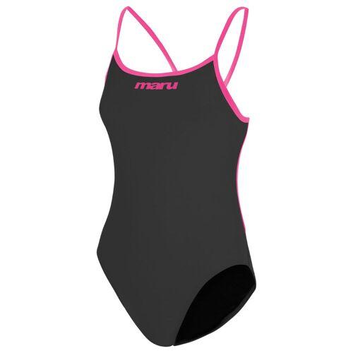 Maru Tie Back Badeanzug - 30 Grey/Pink   Einteiler