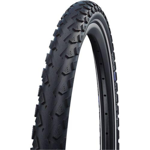 """Schwalbe Land Cruiser Plus Fahrradreifen - 700c 2"""" Black and Reflex"""