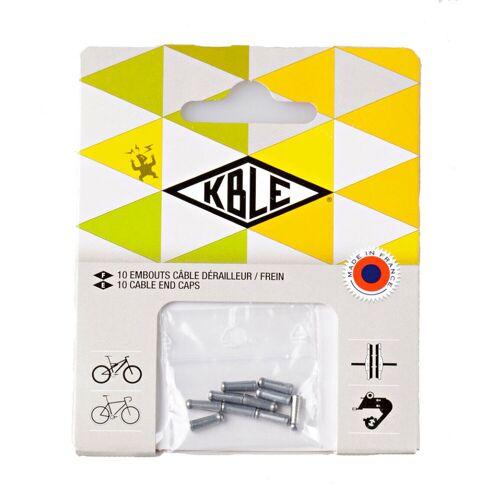 Transfil - 10er Pack Anti-Abnutzung-Kappen für die Kabelenden - Grau