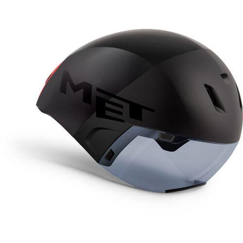 MET Codatronca Fahrradhelm - M Schwarz   Helme