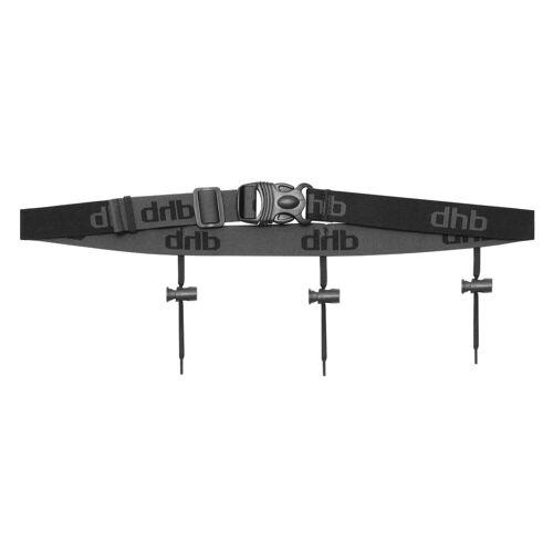 dhb Race Belt Startnummernband - One Size Schwarz   Startnummernbänder