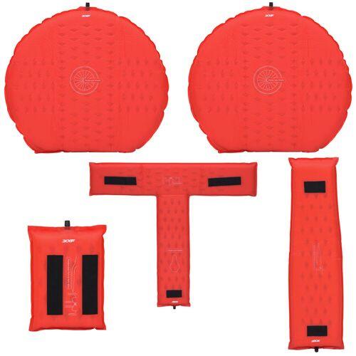 LifeLine Luftpolster Fahrradschutz (aufblasbar) - One Size Rot