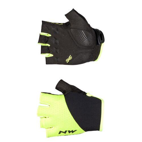 Northwave Fast Radhandschuhe (kurz) - M Yellow Fluo/Black   Handschuhe