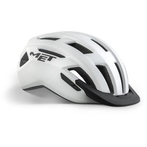 MET Allroad Fahrradhelm - M Weiß / Weiß   Helme