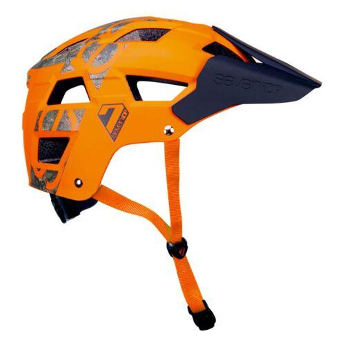 7 iDP M5 Fahrradhelm - S/M Orange/Camo   Helme