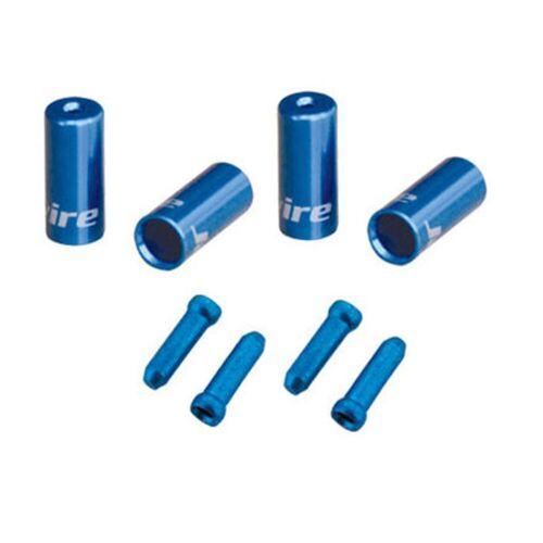 Jagwire Single Fahrrad-Endkappensatz - One Size Blau   Bremszüge