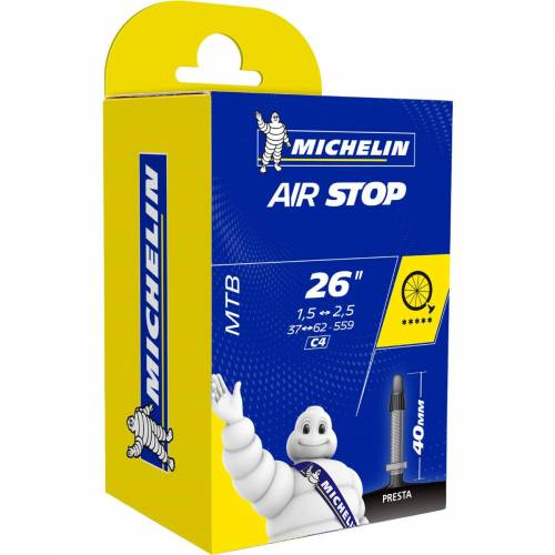 "Michelin C4 AirStop Butyl MTB Fahrradschlauch - 26"" 1.45 - 2.6"" 40mm"