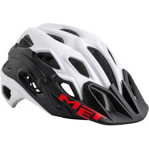 MET Lupo MTB Fahrradhelm - M Weiß/Rot   Helme