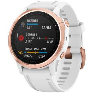 Garmin Fenix 6S Pro Multisport GPS Uhr - One Size Rose Gold-White