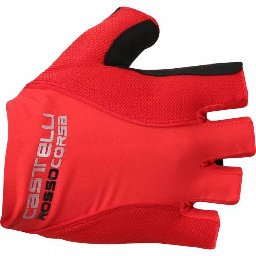 Castelli Rosso Corsa Pave Radhandschuhe - XS Rot   Handschuhe