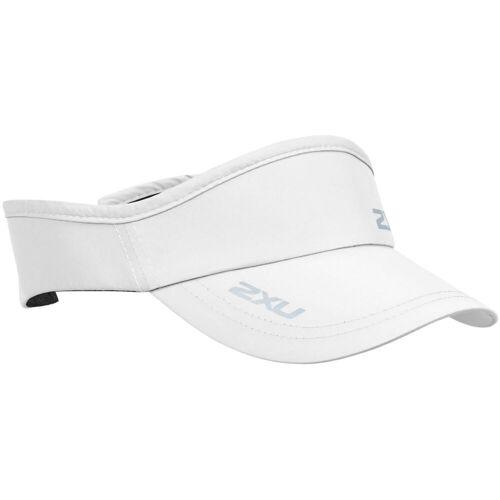 2XU Run Stirnband mit Schirm - One Size Weiß   Schirmkappen