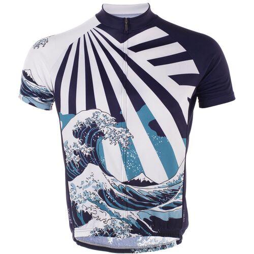 Primal Great Wave Sport Cut Trikot - 3XL Blau/Weiß   Trikots